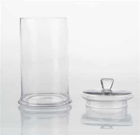 vasi in vetro con coperchio vasi e decori vasi cilindrici in vetro con coperchio