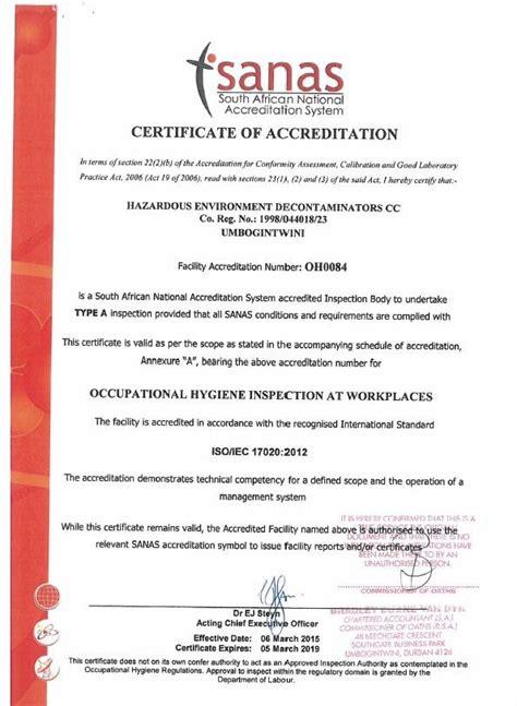 certificates  awards apex environmental