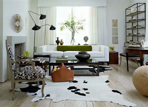 Cowhide Rug Living Room : Cowhide Rug Living Room Beautify The Rooms With Stylish