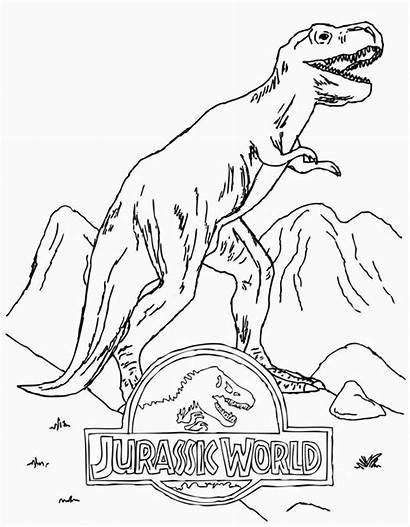 Jurassic Coloring Pages Park Dinosaur Printable Dinosaurs