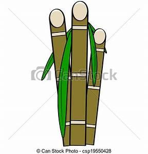 Vector Illustration of Sugar cane - Cartoon illustration ...
