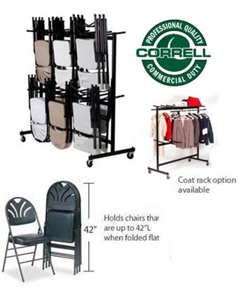 all hanging folding chair caddies and coat rack by correll