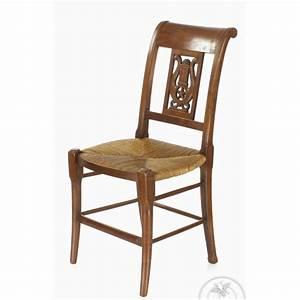 Chaise Blanche Bois : chaise en paille blanche maison design ~ Teatrodelosmanantiales.com Idées de Décoration