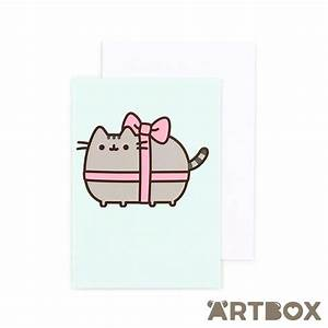Buy Pusheen Gift Ribbon Mini Greeting Card at ARTBOX