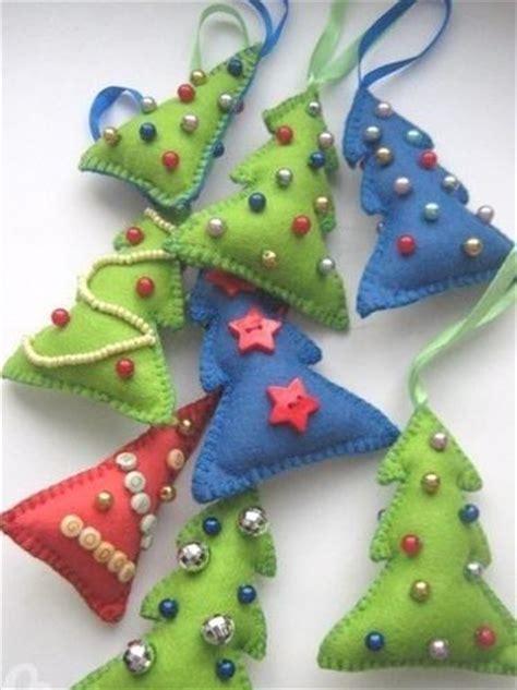 felt christmas crafts homemade christmas tree decorations