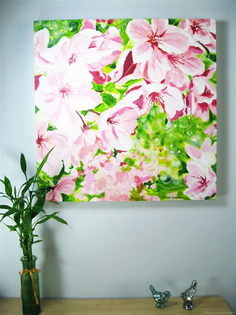 Shop for cherry wall art from the world's greatest living artists. Cherry Blossoms Wall Art Painting   Mospens Studio