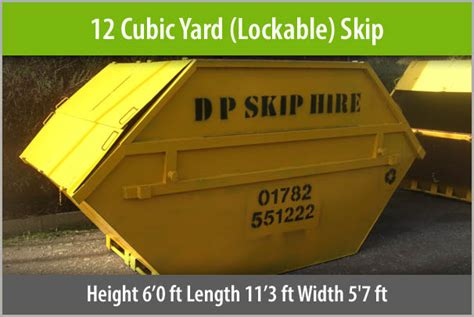 12 Yard Lidded Skip Hire Stoke-on-trent Staffordshire From