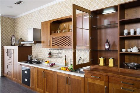 solid wood cabinets factory direct european standard factory direct sell cherry wood kitchen