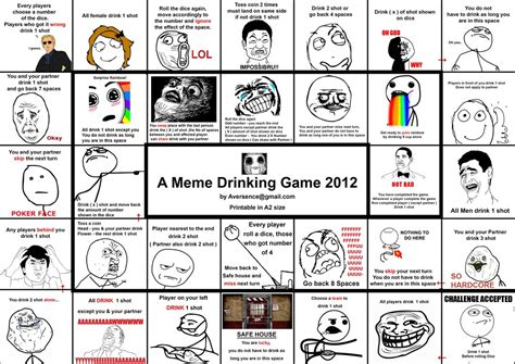 Meme Print - a meme drinking game by ruinlord on deviantart