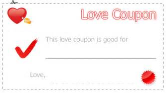 Blank Love Coupons Templates