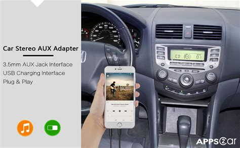 amazoncom  generation car stereo aux input adapter