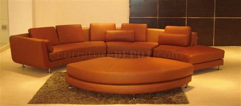 ultra modern  piece modular leather sectional sofa  brown