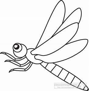 Animals Clipart- dragonfly-insects-black-white-outline-947 ...