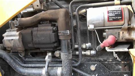 deere  tlb backhoe engine  hydraulic oil change