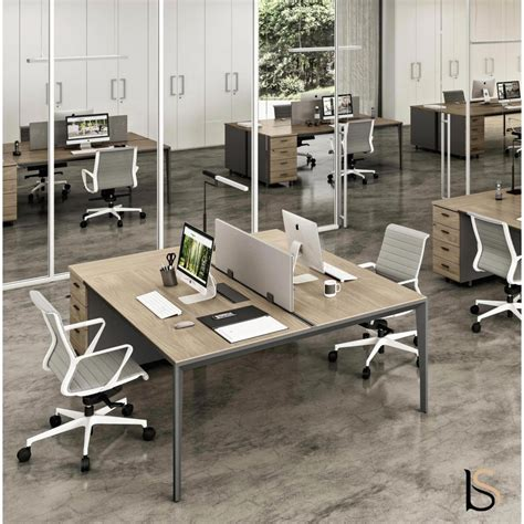 bureau bench bureau bench 2 personnes sur caissons x5 officity