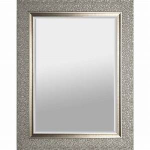 artmaison canada 27 in x 35 in silver square framed wall With kitchen cabinets lowes with large silver wall art