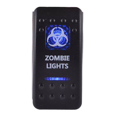 Led Rocker Switch Spst Off Illuminated Blue Light