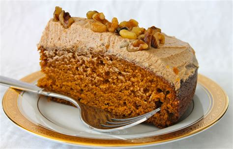 pumpkin cake with spiced buttercream wine plum