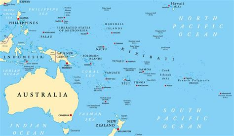 populated countries  oceania worldatlascom