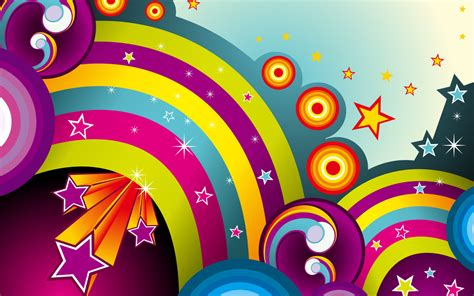 Wallpaper Of Vector by Vector Rainbows Wallpapers Hd Wallpapers Id 8811