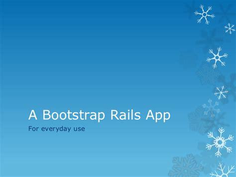 bootstrap rails app
