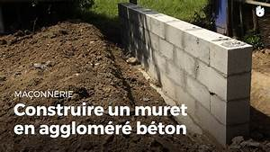 Construire Un Mur En Pierre : construire un muret en agglom r b ton bricolage youtube ~ Melissatoandfro.com Idées de Décoration