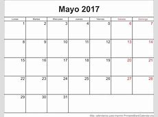 Mayo 2017 Calendario para Imprimir Calendarios Para Imprimir
