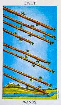 Eight Of Wands Tarot Card Meanings  Free Tarot Tutorials