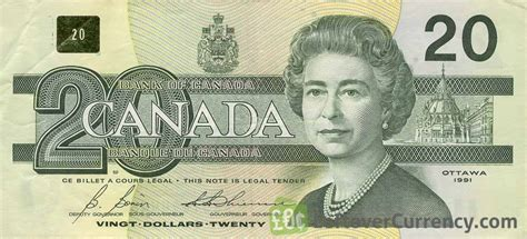 20 Canadian Dollars Series 1993 Birds Of Canada