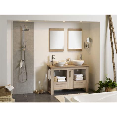 rangement salle de bain bois
