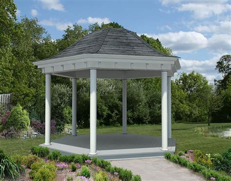 ceiling fans for sunrooms vinyl roof hexagon gazebos gazebos by style