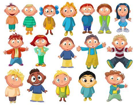 Cartoon Children, Kids, People 10 Vector Eps Free Download