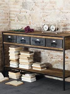 Console Style Industriel : un meuble style industriel pour l 39 entr e joli place ~ Teatrodelosmanantiales.com Idées de Décoration