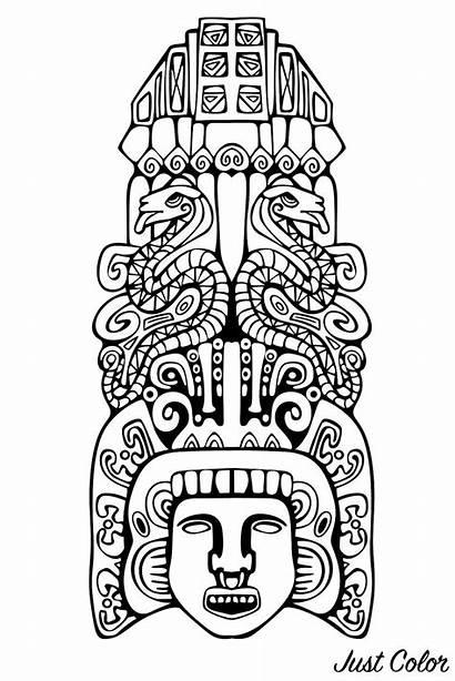 Incas Mayans Mayan Aztecs Aztec Coloring Inca