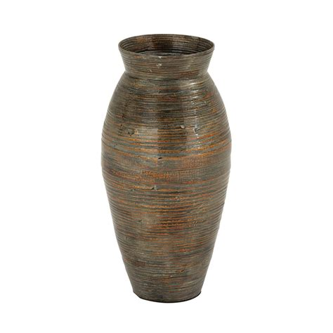 unique large 20 quot bamboo floor vase tuscan antique style rustic ebay