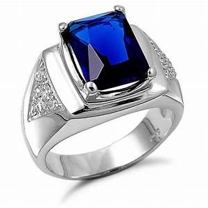 blue sapphire rings for men - Di Candia Fashion