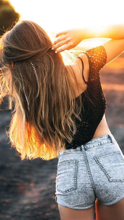 beautiful hairs girl sunshine wallpaper iphone wallpaper