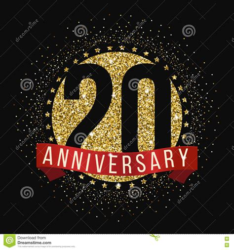 20th anniversary color twenty years anniversary celebration logotype 20th