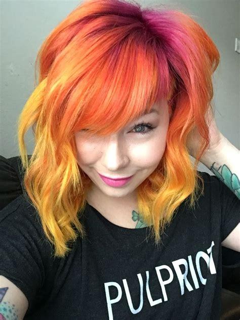 The 25 Best Sunset Hair Ideas On Pinterest Ombre Hair