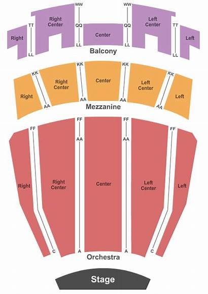 Auditorium Ovens Seating Chart Charlotte Stage End