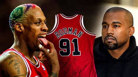 nba news dennis rodman sends kanye west gift  signed jersey