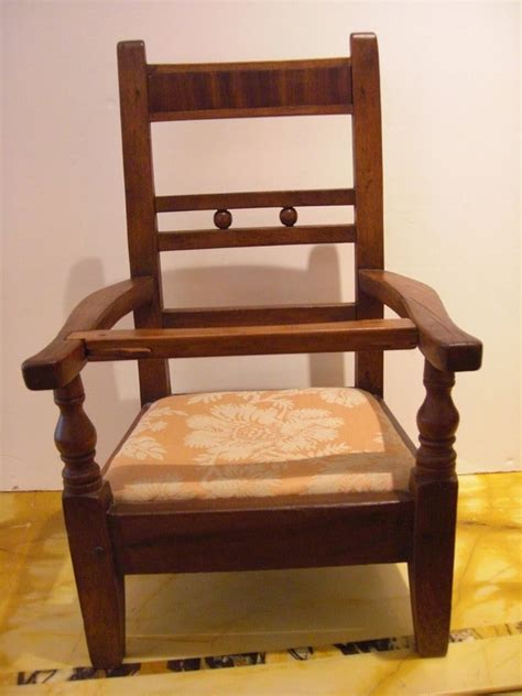 antique child s chair with c 1900 s doll for sale