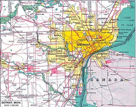 detroit city map detroit mappery