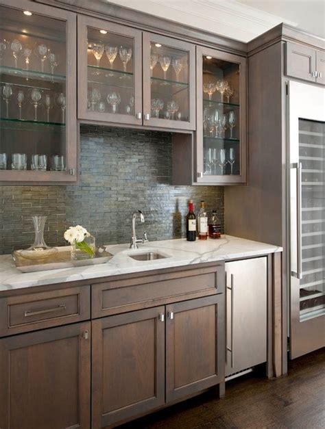 walk up bar cabinets backsplash