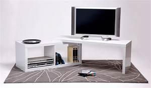 Meuble D Angle Tele : meuble tv extensible sand ~ Teatrodelosmanantiales.com Idées de Décoration