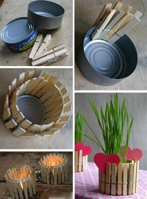 diy mothers day present recycled tin  candle holder