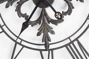 Vintage Wanduhr Groß Holz Metall : wanduhr metall im landhausstil uhr schwarz vintage 102 cm ~ Bigdaddyawards.com Haus und Dekorationen