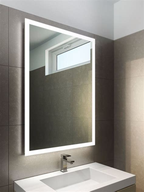 Halo Tall Led Light Bathroom Mirror  Led Demister