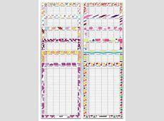 Family Calendar Organiser Contemporary Theme A3 Standard