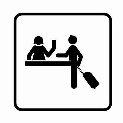 Clipart Check Receptionist Inn Clip Reception Transparent
